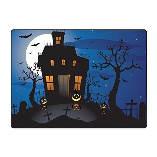 Funny Halloween Background Doormat Floor Mat Rug Indoor/Indoor/Front Door/Bathroom Mats Rubber Non Slip
