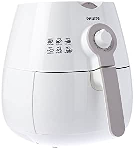 Philips Daily Collection Low Fat Airfryer with Rapid Air Technology, White & Beige, HD9216/81
