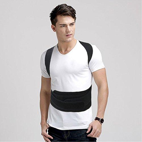 Corset for Men Health Care Corrector Brace Shoulder Band Belt Size XL: Waist 39 - 45 inch