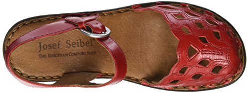 Strap 17 Seibel Ankle Coral Women's Sandals Rebecca Red Josef qXwZOq