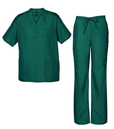 Women's Scrub Set, Assorted Colors, XS-5X, Available Plus Sizes