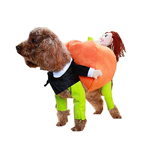 YaptheS Pet Holding Pumpkin Clothes XXL Dog Cat Jacket Dress Up Hoodies Funny Cosplay Costume Pet Pumpkin Outfit
