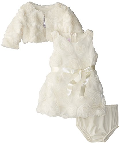 Bonnie Baby Girls' Bonaz Bubble Dress with Jacket, Ivory, 18 Months