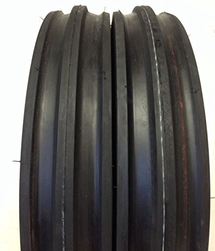 - Two 4.00-12 Rib Tractor Tires with Tubes 400-12 Three Rib