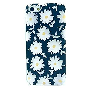 YULIN Small White Chrysanthemum Pattern TPU Soft Case for iPhone 5/5S