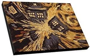 Famous Wall Art Doctor Who – Van Gogh s Exploding Tardis Pattern Home Decoration Canvas Prints- 16×12 Inch One Side
