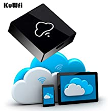 KuWFi I-BOX Memory Cloud Wi-Fi storage box WiFi Memory Card Reader with Wireless Router/Repeator /hhotspot Support Micro SD TF Card to expand the memory Wireless Flash Drive WiFi Storage OTG Disk