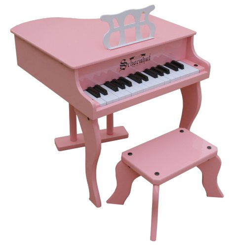 Schoenhut 30 Key Pink Fancy Baby Grand Piano