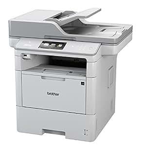 Brother MFC-L6900DW - Impresora multifunción láser monocromo (bandeja 520 hojas, 50 ppm, USB 2.0, memoria de 1 GB, doble cara automática, Ethernet, Wifi) color blanco