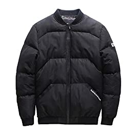 Realdo Mens Casual Cotton Blend Jacket, Winter Zipper Pocket Thick Coat Outwear