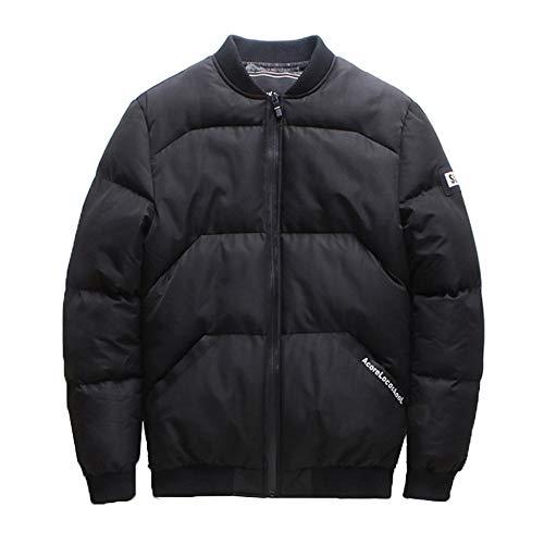 Glissière Pour D'hiver Noir Kinlene Rembourré Coton Hommes Manteau Poche De À Col Montant 1xYBHq