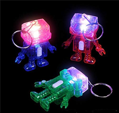 2 inches Light-Up Robot Keychain, Case of 288