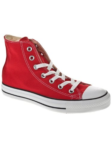 Converse Mens Chuck Taylor All Star High Top, 6 B(M) US Women / 4 D(M) US Men, Red