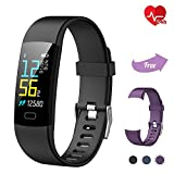 Fitness Tracker TwobeFit, Waterproof Fitness Watch Color Screen with Heart Rate Sleep Monitor