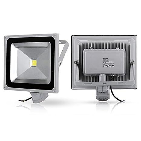 2x Foco Luz LED,50W Sensor de movimiento con Luz inalámbrico para Exteriores incluyendo Patio