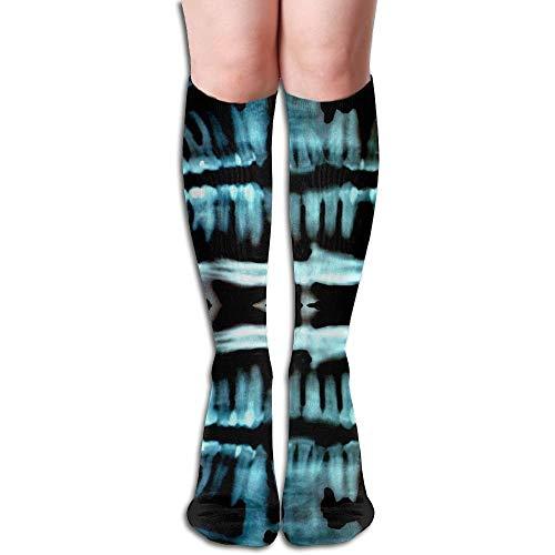 Halloween Spooky Skeleton Teeth Compression Socks,Knee High Socks,Funny Socks Women Men - Best Medical,Sports,Running,Nurses,Maternity, Pregnancy,Travel & Flight Socks ()