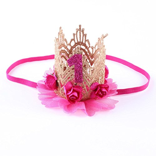 Baby Boy Girl Party Hats Hairband, Elastic Flower Crown Headband for Baby -