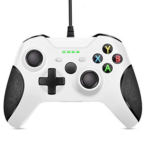 VOYEE Controller Replacement for Xbox One Controller, Enhanced Wired Controller with Headphone Jack/Double Shock…