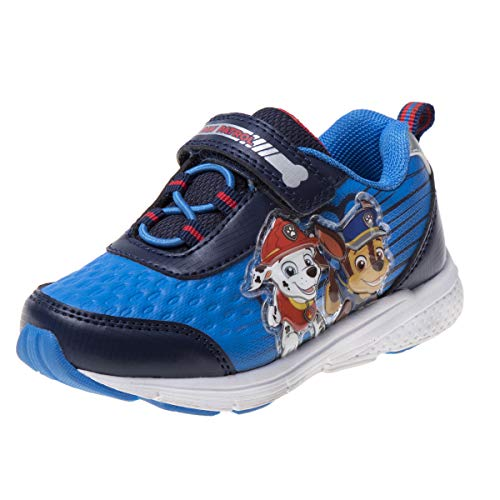 Shoes Sneaker Patrol - Josmo Paw Patrol Boys' Lightweight Sneakers with Strap Closure, Navy/Blue, Size 12 M US Little Kid'
