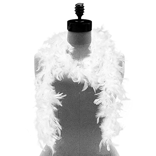 Skeleteen Feather Boa Costume Accessory - 1920's White Boa with Feathers - 1 Piece for $<!--$7.99-->
