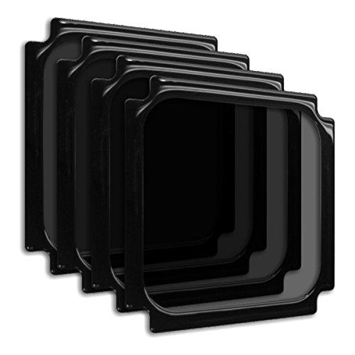 DEMCiflex Dust Filter for NCASE M1 120mm Square 4-Pack, Black Frame/Black Mesh (Best Air Cooler For Ncase M1)