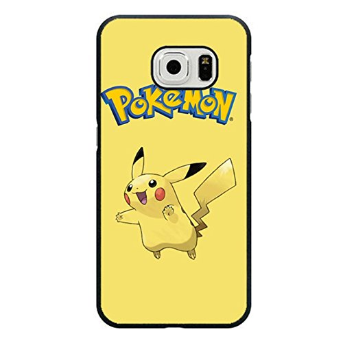 Cute Visual Samsung Galaxy S6 Edge Back Cover Case,Pokemon Pattern Phone Case Snap on Samsung Galaxy S6 Edge,Pikachu Printed Case