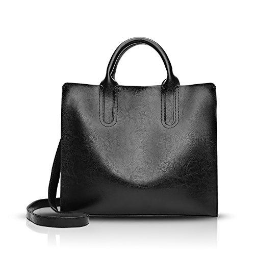 Mujer Tisdaini de bolso dama bolsas bolso mano moda Negro PU 2018Nuevo bandolera piel de HtHrwq5