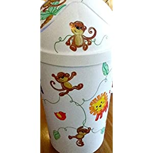 Hamper Baby Animals Handpainted and Personalized Kids Laundry Basket