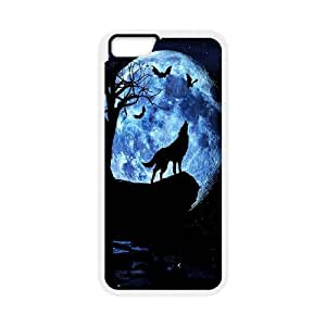 """JenneySt Phone CaseAnimal Wolf and Moon For Apple Iphone 6,4.7"""" screen Cases -CASE-20"""