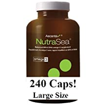 Nutra Sea Fish Oil (240 Capsules) (Fish Body oil for Omega 3s) NutraSea Herring oil by Ascenta Brand: Ascenta Health