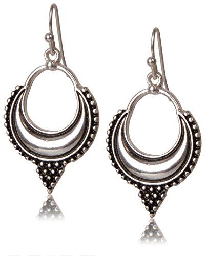 Boho Bali Earrings Silver Toned