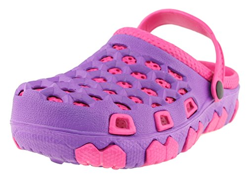Price comparison product image 'Sole Selection Girls Purple and Fuchsia Rugged Garden Shoe,  Size 1'