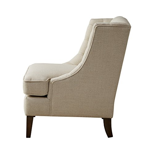 Sawyer Button Tufted Accent Chair Cream See Below Review