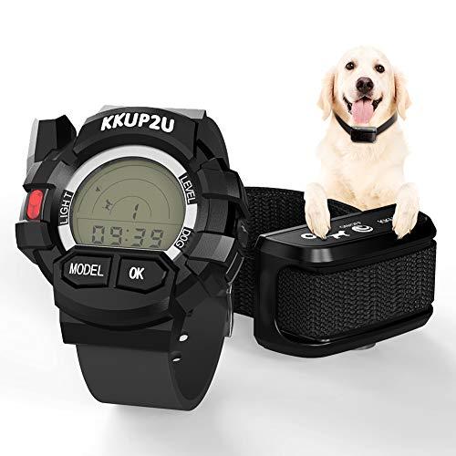 KKUP2U Dog Training Collar, Dog Shock Collar Beep/Vibration/Shock Electronic Collar, Rechargeable Remote IPX7 Waterproof 1000 Foot Range (10-120 LBS)