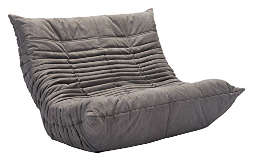 Zuo Modern 100684 Down Low Loveseat, Gray