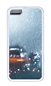 Heavy downpour Custom iPhone 5C Case Cover TPU White