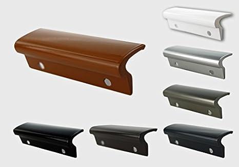 MS Beschl/äge/® Glasfalzgriff Terassent/ürgriff Balkont/ürgriff Ziehgriff aus Aluminium Braun - RAL 8019