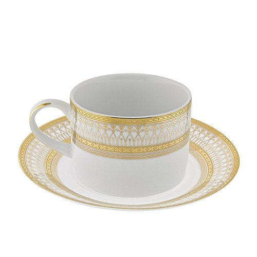 10 Strawberry Street Iriana Cup and Saucer (Set of 6) IRIANA-9GLD-6