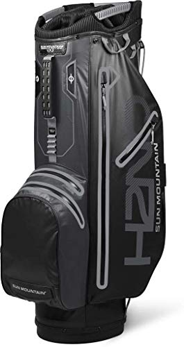 Sun Mountain Golf 2019 H2NO Superlite Cart Bag - Black-Steel (Best Golf Waterproofs 2019)