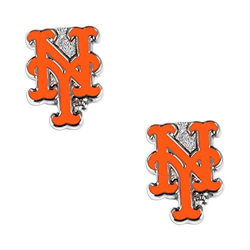 aminco New York Mets Post Stud Logo Earring Set MLB Charm