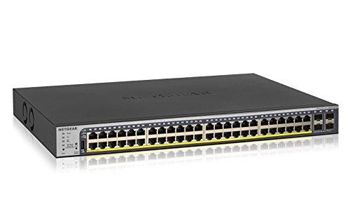 NETGEAR 52-Port Gigabit Ethernet Smart Managed Pro PoE Switch (GS752TP) - with 48 x PoE+ @ 380W, 4 x 1G SFP, Desktop/Rackmount, and ProSAFE Lifetime Protection ()