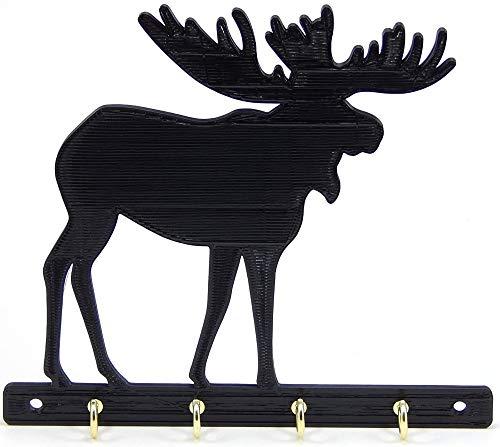 Moose Key Rack Holder Hanger Hunter Decor Entryway Organization Wall Hooks