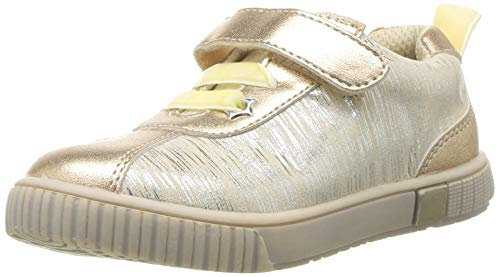 Girls Dressy Boots (Livie & Luca Girls' Spin Sneaker, Cream Tinsel, 8 Medium US)