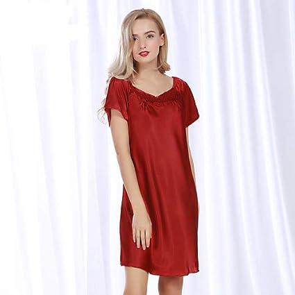 af8ffb87a4deb Amazon.com: ForShop New Satin Silk Women Sleepwear Summer Plus Size ...