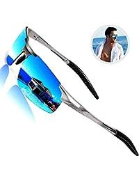 Driving Polarized Sunglasses Men UV Protection Ultra Lightweight Al Mg Golf Fishing Sports Sunglasses