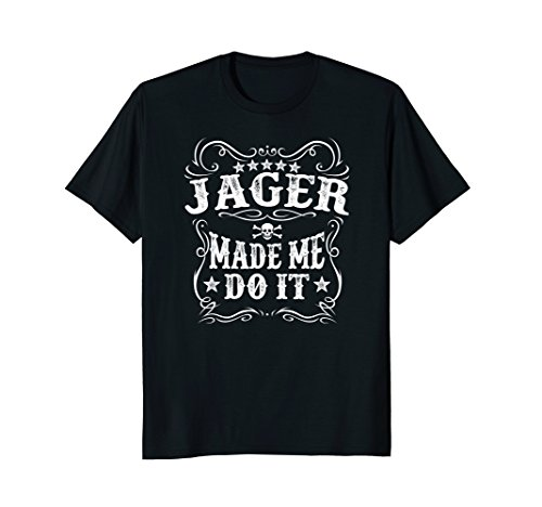 Mens Jager Made Me Do It Tee - Funny Alcohol Drinker Gift T-Shirt Medium Black
