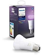 Philips Hue UAE White and Colour Ambiance LED Smart Bulb, Bluetooth & Zigbee compatible ( Hue Bridge Optional ), Works with Alexa & Google Assistant, 1 Year Warranty
