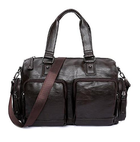Men Vintage Luggage Casual Brown Shoulder Bag Textured For Cool Single rwwEq68t