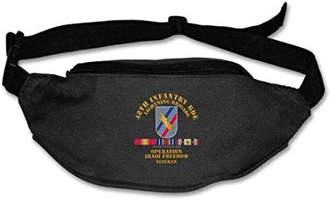 第48歩兵Bdeイラク自由獣医ユニセックスアウトドアファニーパックバッグベルトバッグスポーツウエストパック