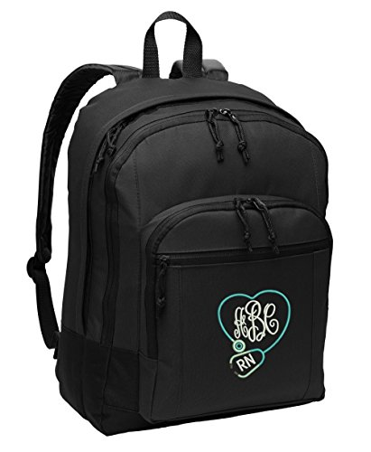 Monogrammed Nurse, CNA, RN, LPN Backpack